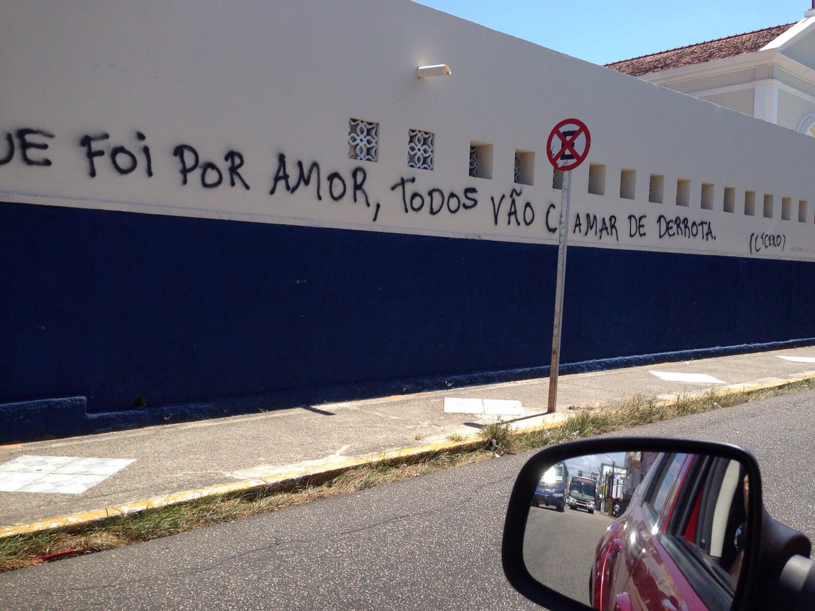 Quem é Cícero cujas frases estão pichadas nos muros das ruas?