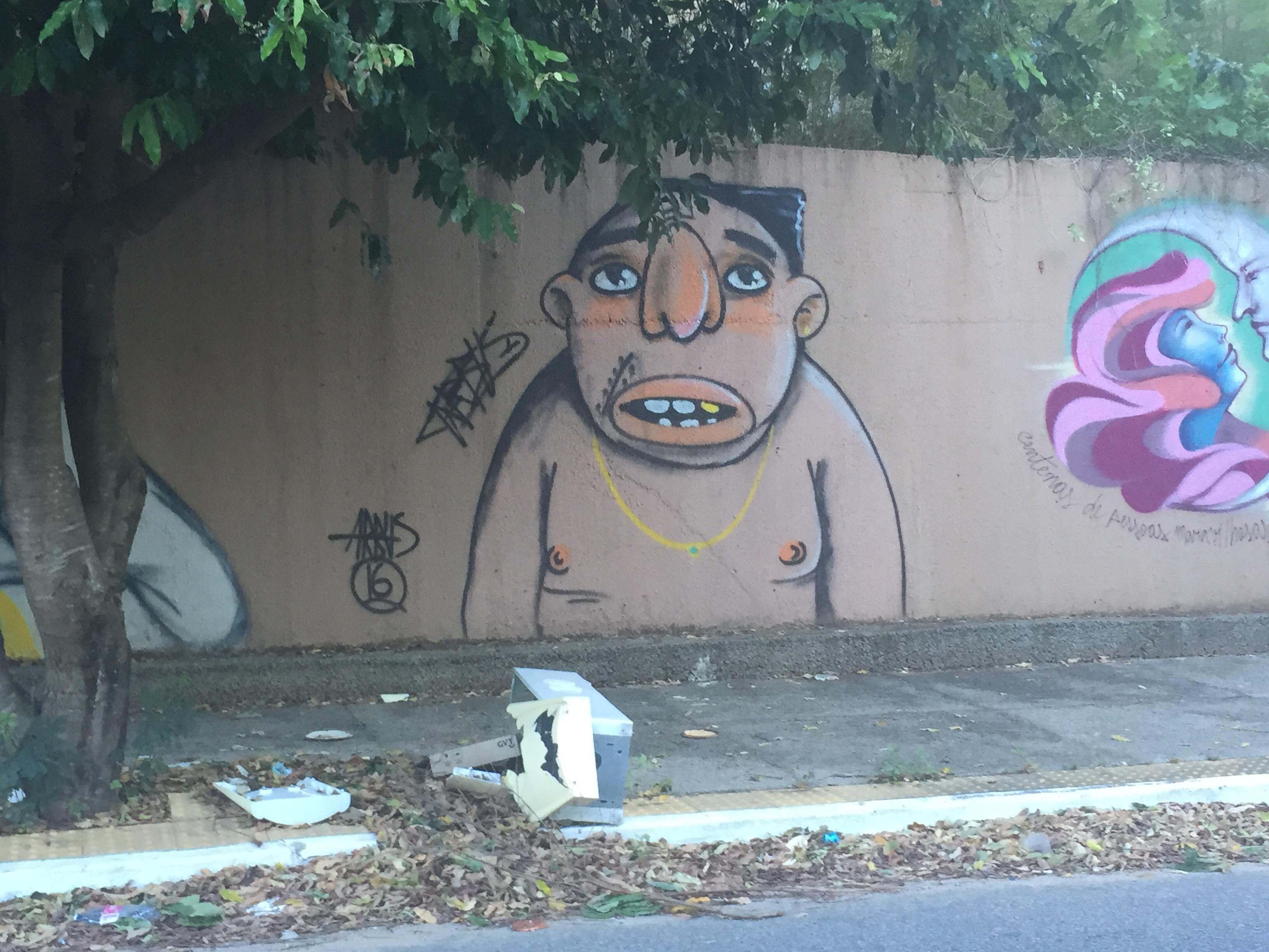 Os grafites de Arbus, que estão espalhados em Natal