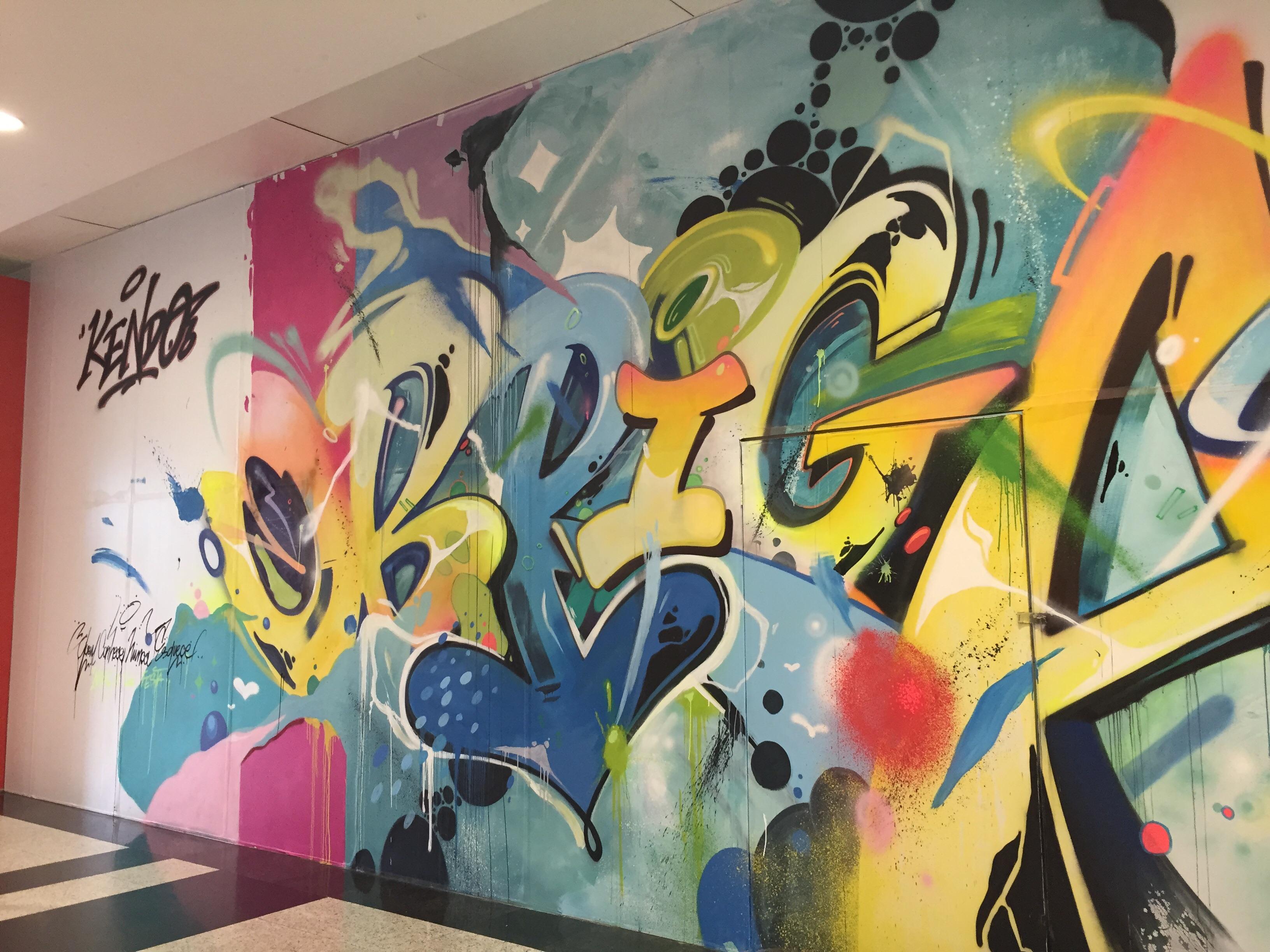 E esse grafite no meio do shopping?