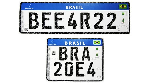 Placas de carro no Brasil vão mudar novamente
