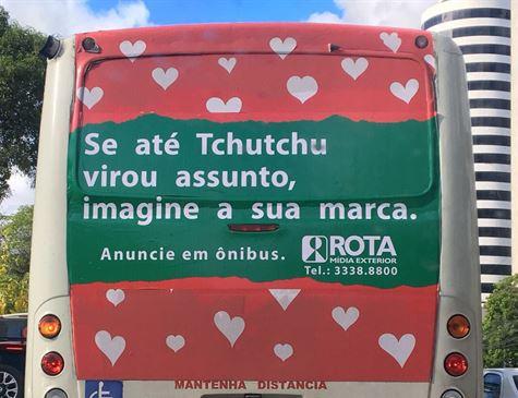 """""""Tchutchu"""" do ônibus era uma ação de marketing de agência de publicidade"""