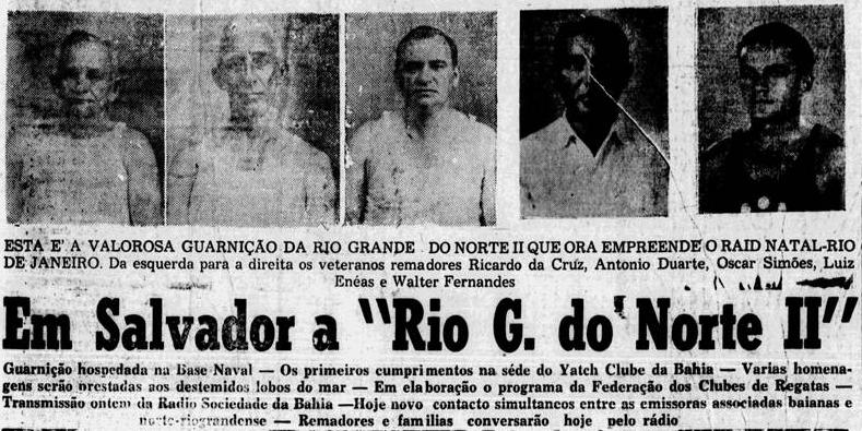 História dos natalenses que quiseram navegar ao Rio de remo