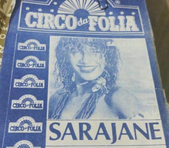 Cartazes dos shows do Circo da Folia dos anos 80 e 90