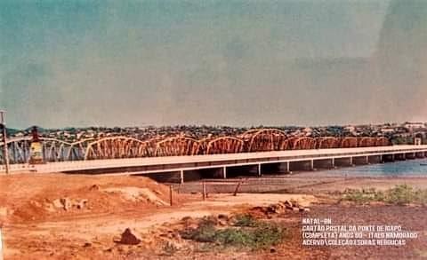 Uma rara foto da ponte de Igapó inteira